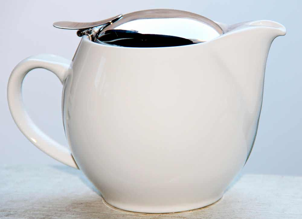 500 ml Hvid Keramik tekande
