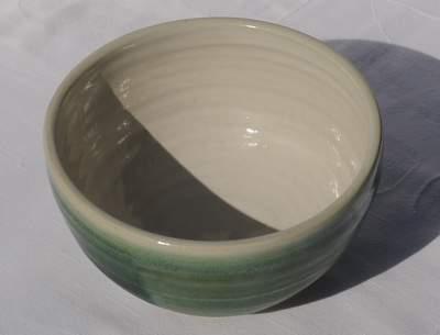 celedon green porcelain matcha bowl