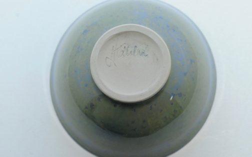 Blå grøn sommer chawan bund - Lars H. Kähler