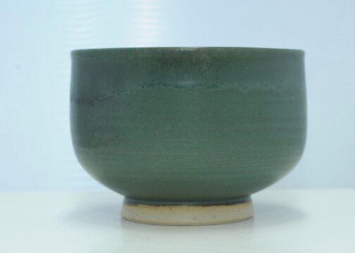 Grøn vinter chawan drikkeskål - Lars H. Kähler