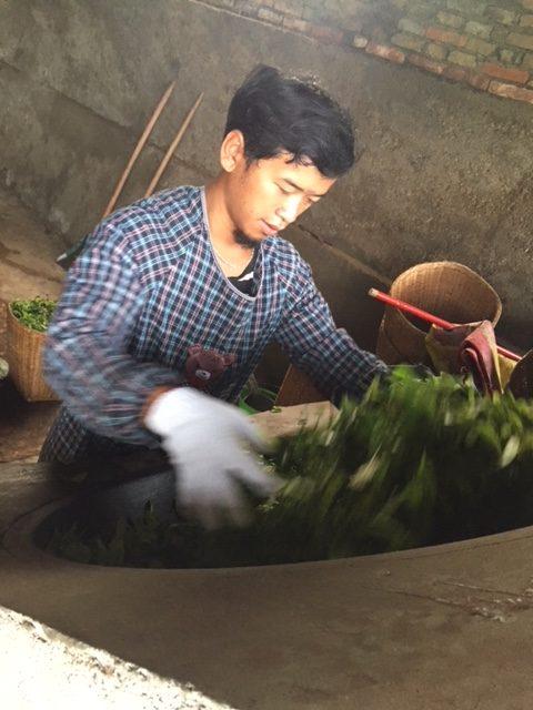Wok-ristning teblade