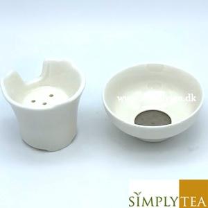 Gong Fu Cha tesæt i hvid porcelæn